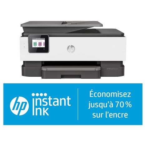 HP Imprimante Multifonction Jet d'encre OfficeJet Pro 8022 - Compatible Instant Ink
