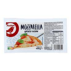 AUCHAN Mozzarella spéciale cuisine 400g