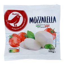AUCHAN Mozzarella en boule 125g