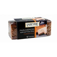 LABEYRIE Pain d'épice spécial foie gras poivré en tranches 12 pièces 150g