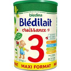 BLEDINA Blédilait lait de croissance en poudre dès 12 mois 1,6kg