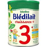 Blédina Blédina Blédilait 3 lait de croissance en poudre de 12 mois à 3 ans 900g
