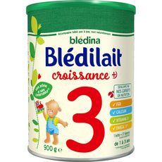 Blédina Blédilait 3 lait de croissance en poudre de 12 mois à 3 ans 900g
