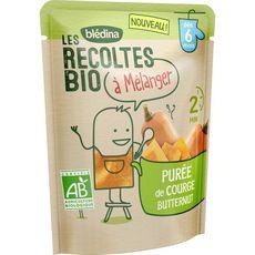 Blédina Purée de courge butternut bio à mélanger dès 6 mois 120g