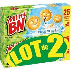 BN Mini biscuits coeur de lait Lot de 2 2x350g