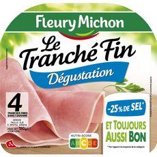 Fleury Michon jambon fin italien -25% de sel 4 tranches 120g