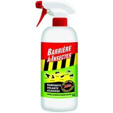 Barrière à insectes Spray anti-insectes rampants volants et acariens 1l