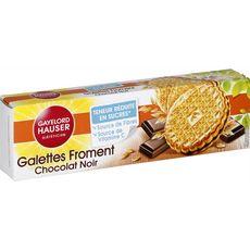Gayelord Hauser Galettes froment chocolat noir teneur réduite en sucre 180g