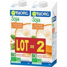 BJORG Bjorg soja à boire calcium bio 2x1l