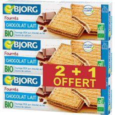 Bjorg Biscuits bio fourrés au chocolat au lait, sans huile de palme Lot de