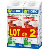 Bjorg soja cuisine semi épaisse bio 2x25cl