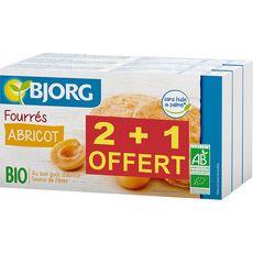 Bjorg  fourrés abricot bio 2+1 offert 3x175g
