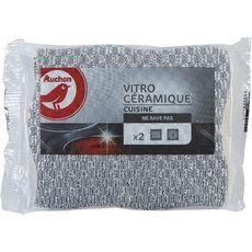AUCHAN Eponges cuisine vitro-céramique 2 éponges