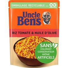 UNCLE BEN'S Uncle Ben's Riz tomates huile d'olive sachet recyclable prêt en 2 min 250g 1 personne 250g