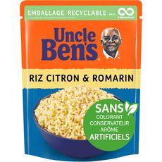 Uncle Ben's Riz citron romarin sachet recyclable prêt en 2 min 250g