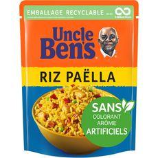 UNCLE BEN'S Riz paëlla sachet recyclable prêt en 2 min 1 personne 250g