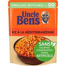 UNCLE BEN'S Riz à la méditerranéenne sachet recyclable prêt en 2 min 1 personne 250g