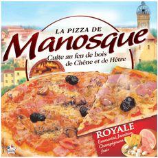 LA PIZZA DE MANOSQUE Pizza royale cuite au feu de bois 400g