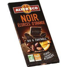 Alter Eco Tablette de chocolat noir écorces d'orange bio et équitable 100g