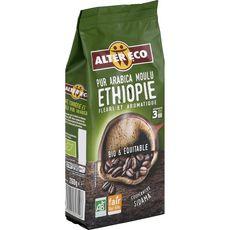 Alter Eco Café moulu bio et équitable d'Ethiopie pur arabica 260g