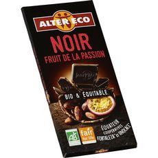 Alter Eco Tablette de chocolat noir fruits de la passion bio équitable 100g
