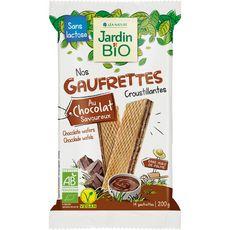 JARDIN BIO ETIC Gaufrettes croustillantes au chocolat vegan sans lactose ss huile de palme 14 gaufrettes 200g