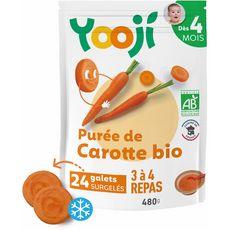 Yooji bio purée lisse de carottes 480g dès 4mois