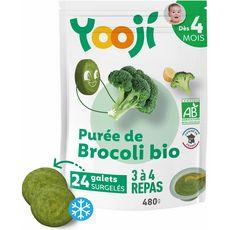 Yooji bio purée lisse de brocolis 480g dès 4mois