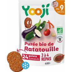 Yooji Galets de purée de ratatouille bio dès 9 mois 24x20g