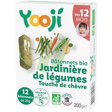 YOOJI Bâtonnets jardinière de légumes et chèvre bio dès 12 mois 300g
