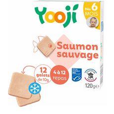 YOOJI Galets de saumon sauvage pêche durable MSC dès 6 mois 12x10g