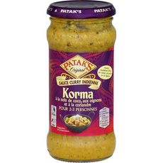 PATAK'S Sauce korma à la noix de coco oignons et coriandre - doux 2 à 3 personnes 350g