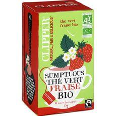 Clipper CLIPPER Thé bio sumptuous, thé vert fraise