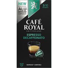 Café Royal Café Espresso décaféïné capsules compatible Nespresso x16 -52g