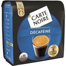 CARTE NOIRE Dosettes de café décaféiné compatibles Senseo 36 dosettes 250g