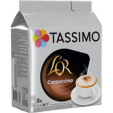 TASSIMO Dosettes de café L'Or espresso cappuccino 8 dosettes 267,2g
