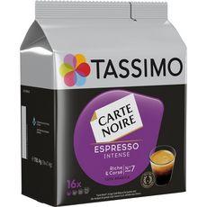 TASSIMO Dosettes de café Carte Noire espresso intense 16 dosettes 118g