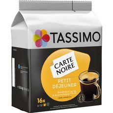 TASSIMO Carte Noire café petit déjeuner 16 dosettes 133g