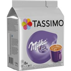 TASSIMO Dosettes chocolat chaud Milka 8 dosettes 240g