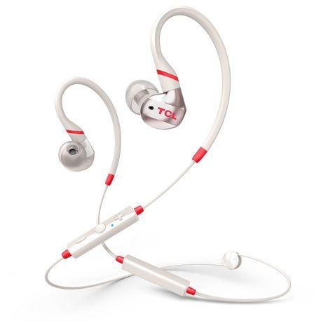 TCL Écouteurs sport Bluetooth - Blanc - ACTV100BT