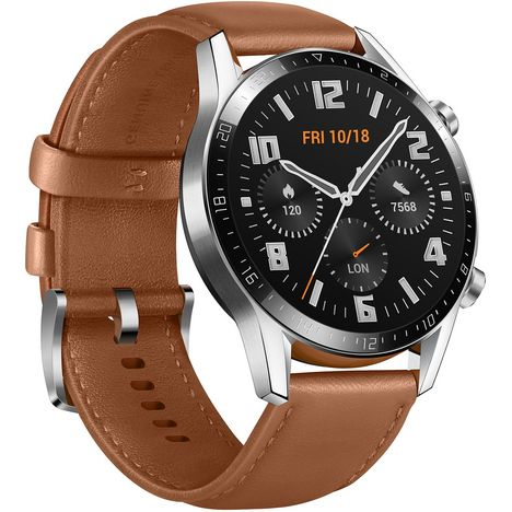 HUAWEI Montre connectée 46 mm - Watch GT 2 - Latona-B19V - Marron