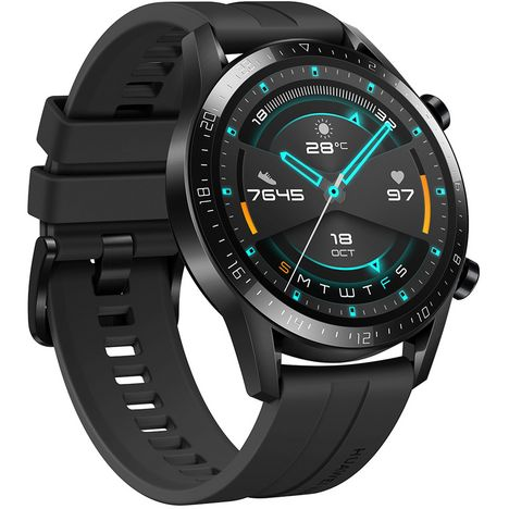 HUAWEI Montre connectée 46 mm - Watch GT 2 - Latona-B19S - Noir