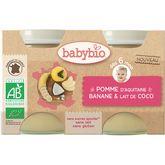 Babybio pot pomme banane coco 2x130g dès4mois
