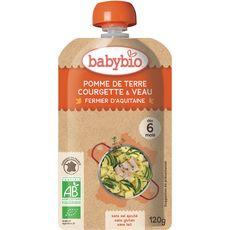 BABYBIO Babybio gourde pomme de terre courgette veau 120g dès 6 mois