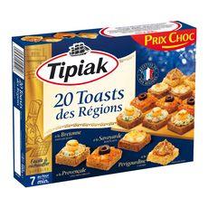 TIPIAK Toasts des régions 20 pièces 160g