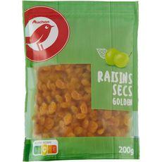 AUCHAN Raisins secs golden 200g