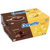 Danone DANETTE Crème dessert au chocolat et à la vanille 12x125g