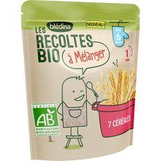 BLEDINA 7 céréales bio à mélanger dès 6 mois 180g