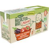 Blédina Blédina Sauce de légumes aubergine tomate bio à mélanger dès 10 mois 2x150g