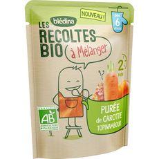 Blédina Purée de carotte topinambour bio à mélanger dès 6 mois 120g